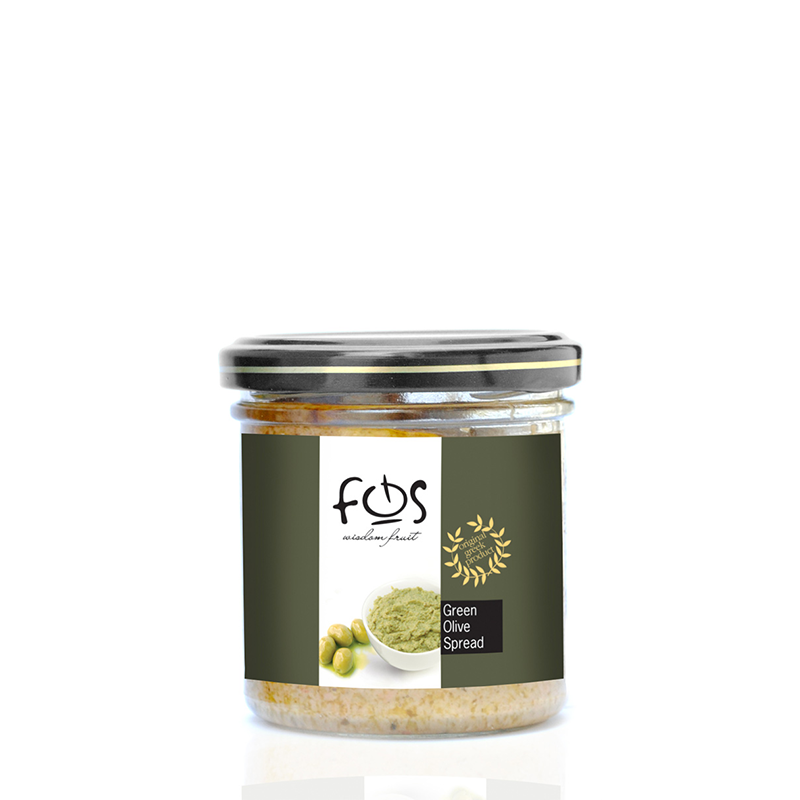 FOS – Greek Green olive spread – glass jar 135gr