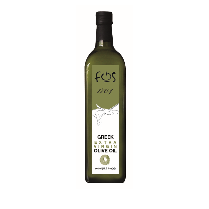 FOS 1704 – Extra Virgin Olive Oil – glass bottle