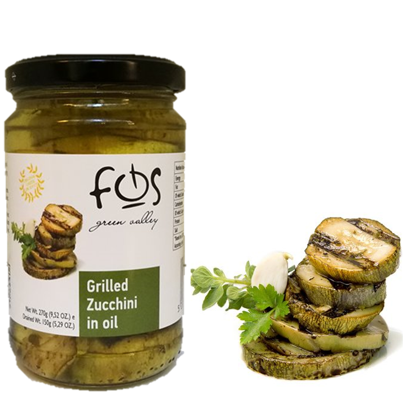 FOS – Greek Grilled Zucchini in Oil