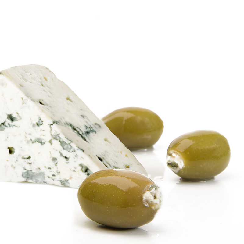 FOS – Greek Green Olives stuffed with blue cheese