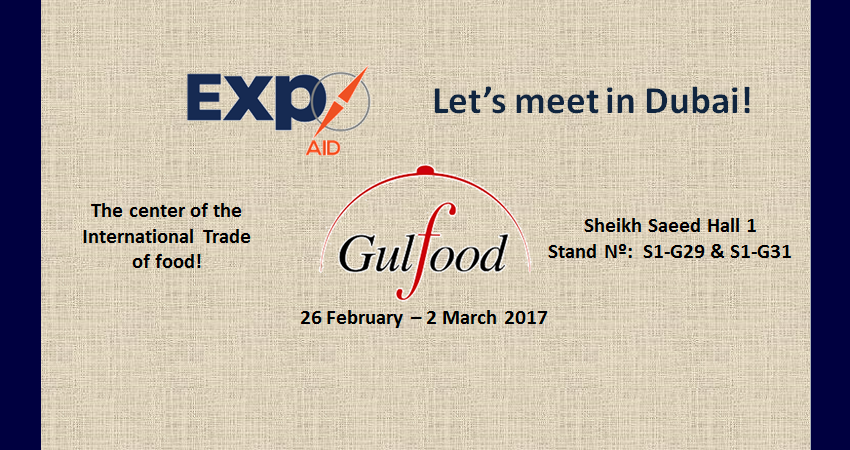 Come and see us at GULFOOD 2017