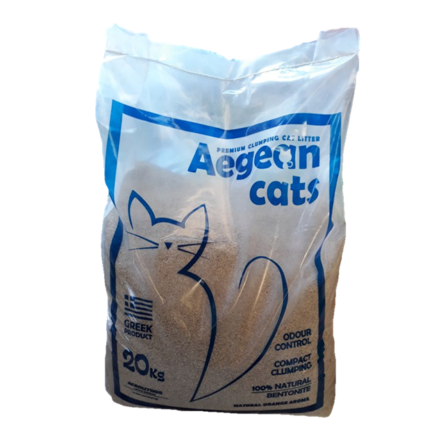 Aegean Cats Natural Cat Litter Plastic Bag (20kg)