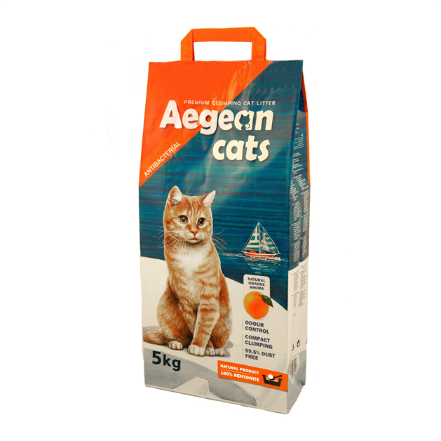 Aegean Cats Natural Cat Litter (5kg) perfurmed with natural orange scent