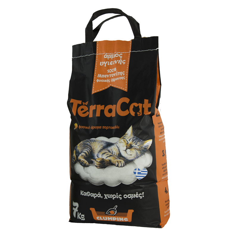 TerraCat Natural Cat Litter perfumed with natural orange scent