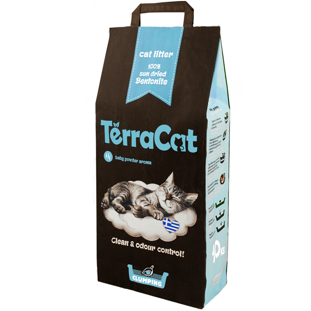 TerraCat Natural Cat Litter perfumed with baby powder (10kg)