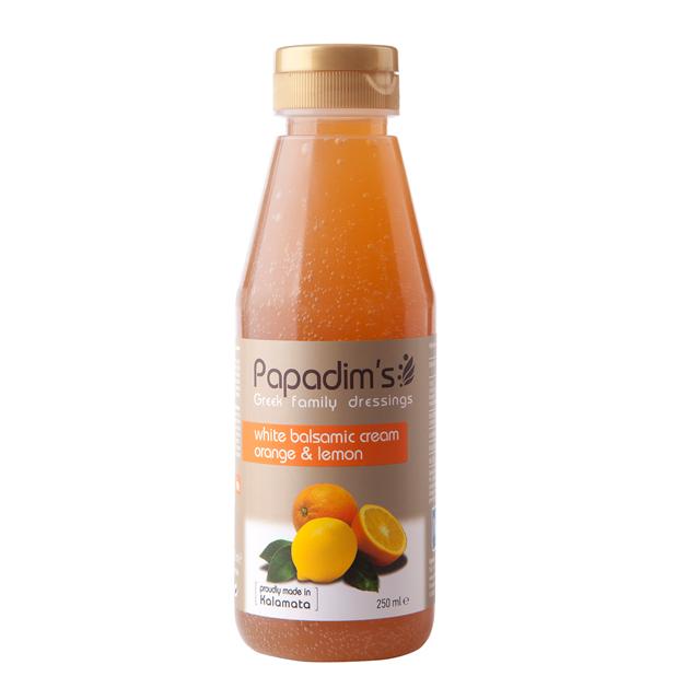 Papadim's White Balsamic Cream Orange & Lemon 250ml