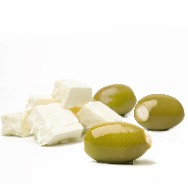 FOS – Greek Green Olives stuffed with feta cheese
