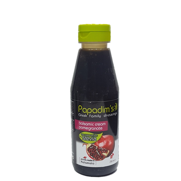 Papadim's Balsamic Cream Pomegranate with Stevia 250ml