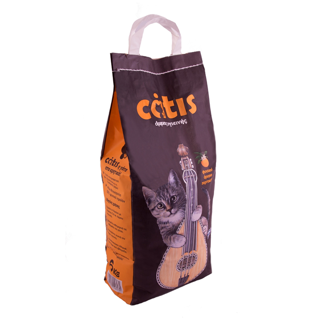Catis Natural Cat Litter scented with orange