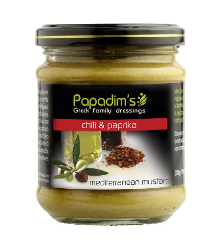 Papadim's Mediterranean Mustard Chili & Paprika – 200g