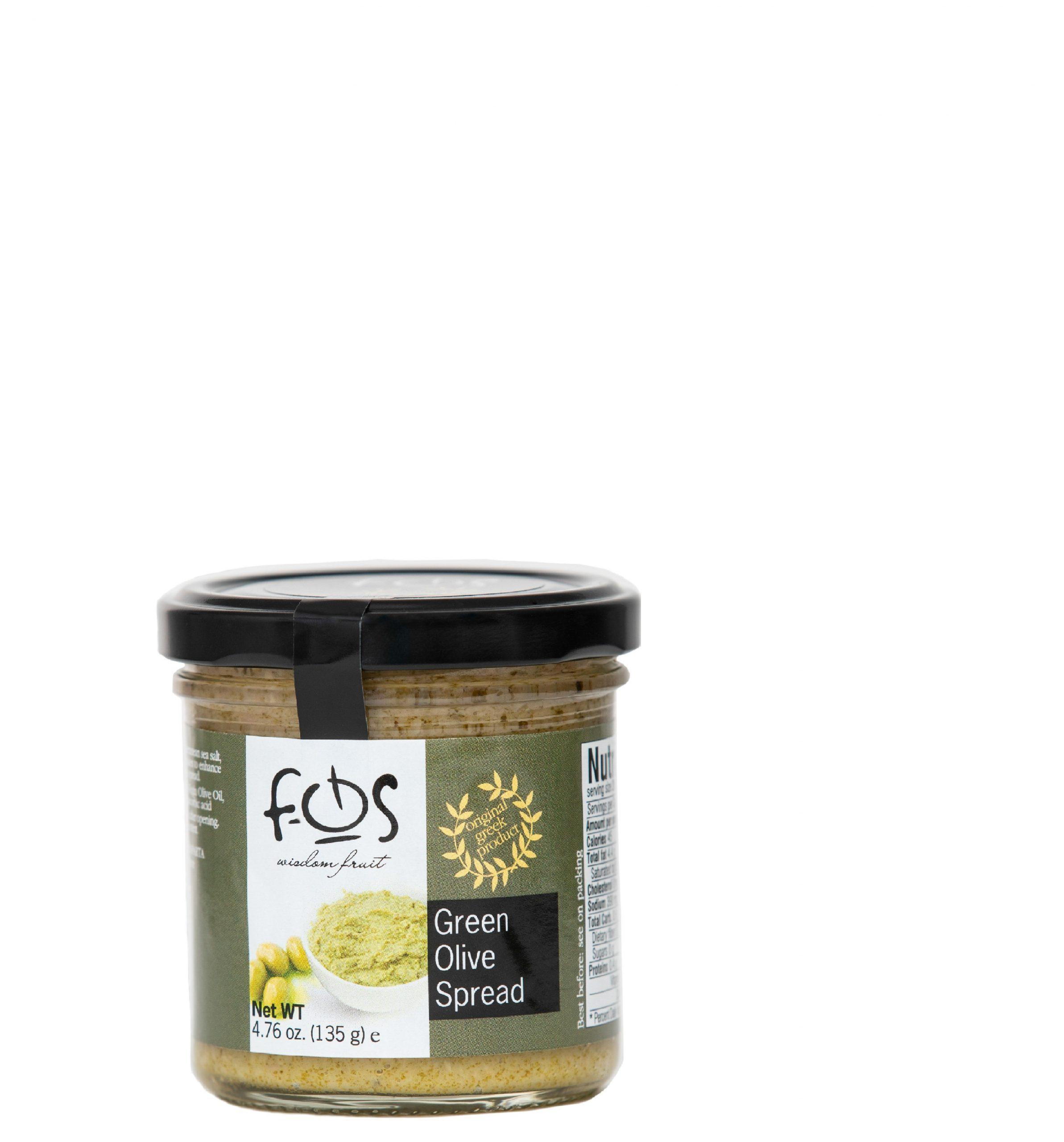 FOS – Greek Green olive spread – glass jar 135gr