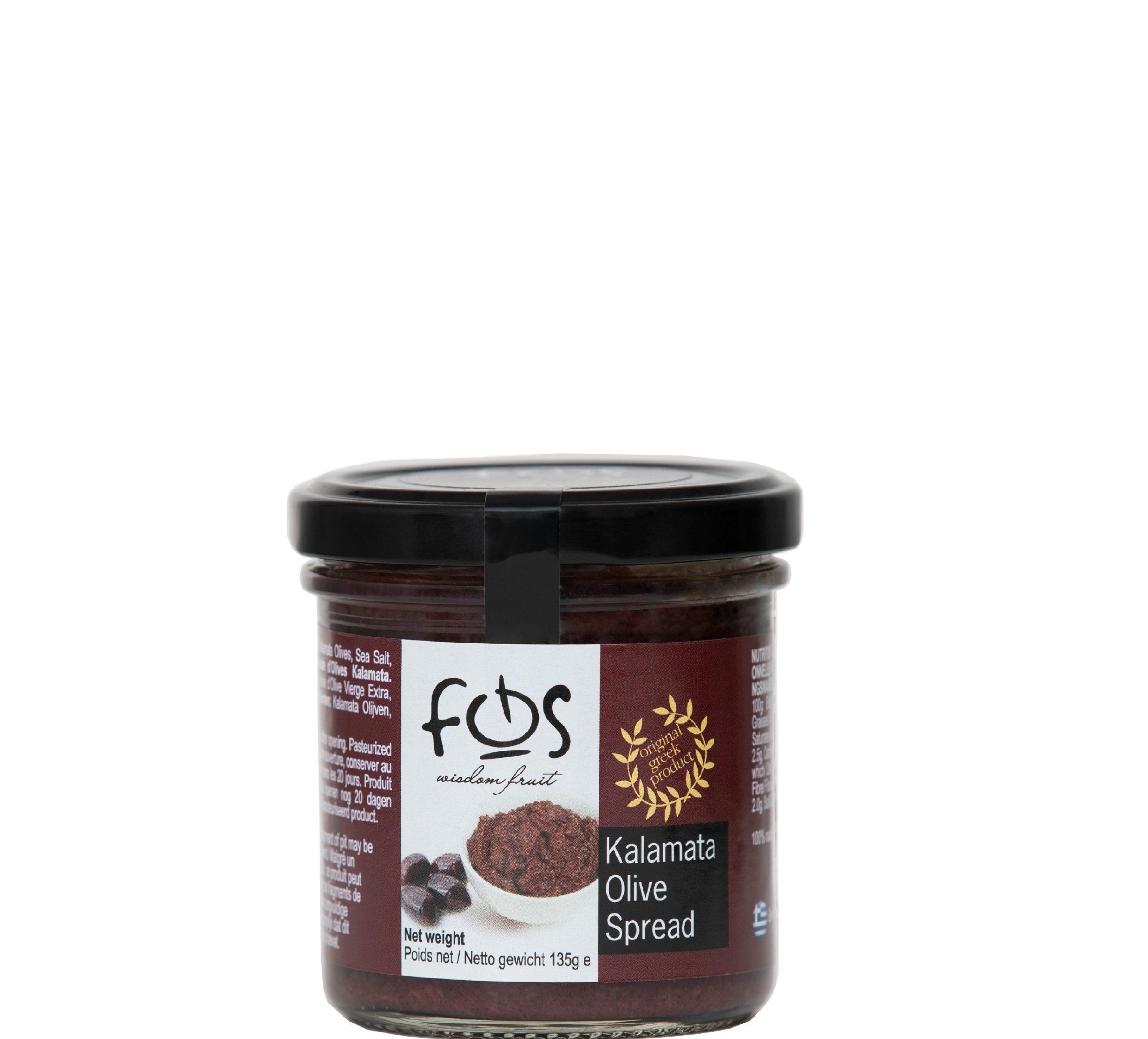 FOS – Greek Kalamata olive spread – glass jar 135gr